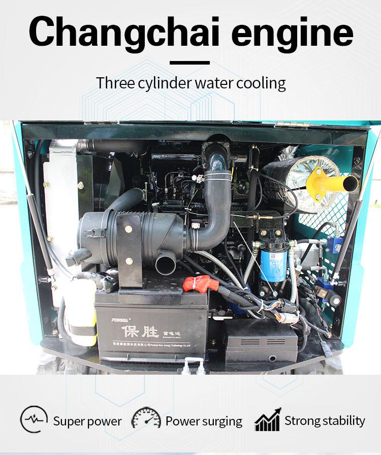 R328 crawler mini agricultural excavator