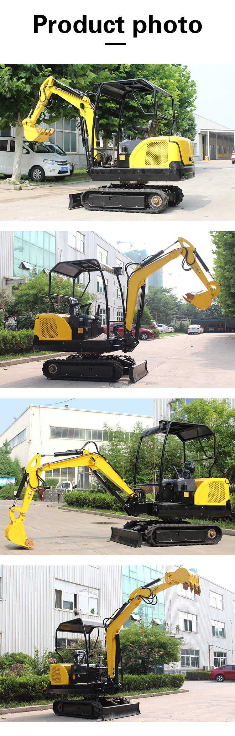 R330 small orchard excavator