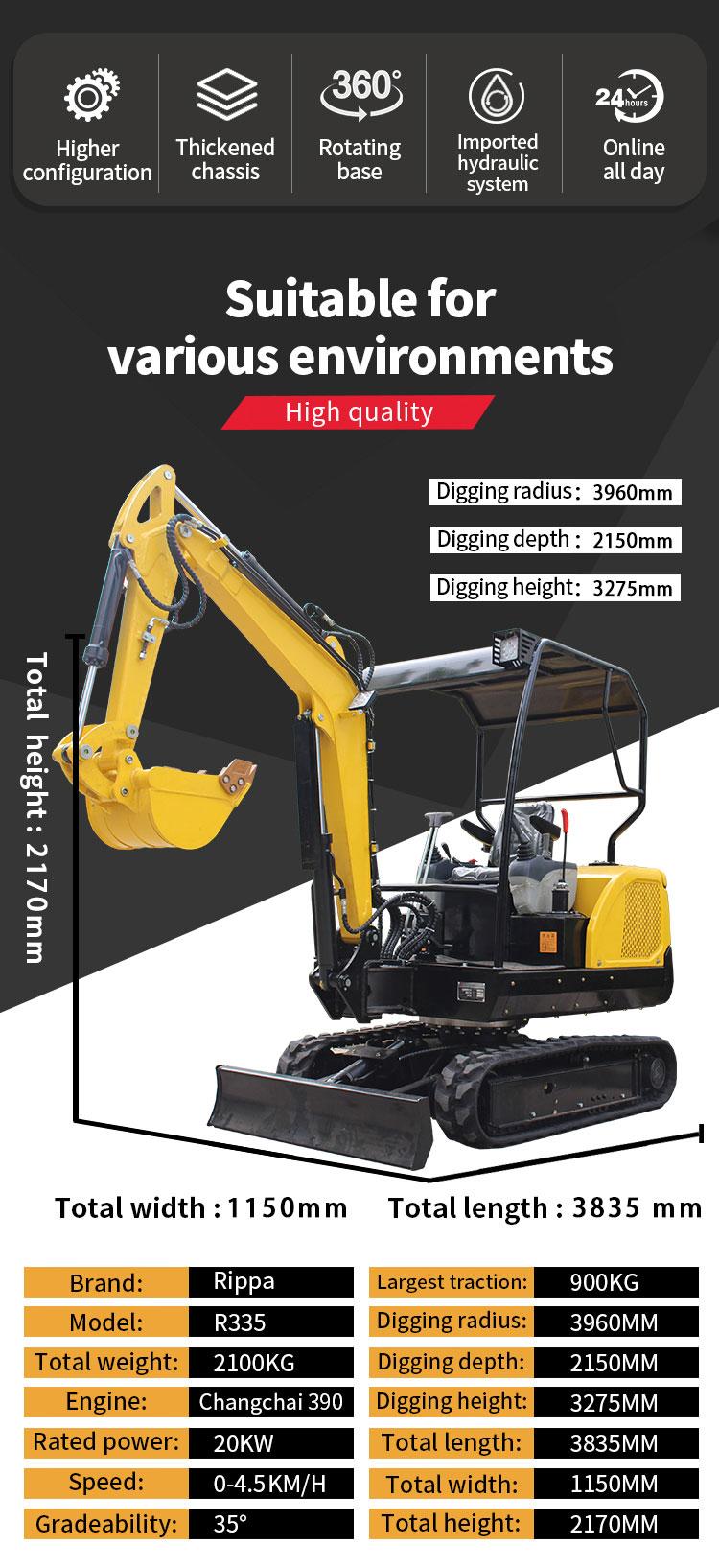 R335 mini multifunction excavator