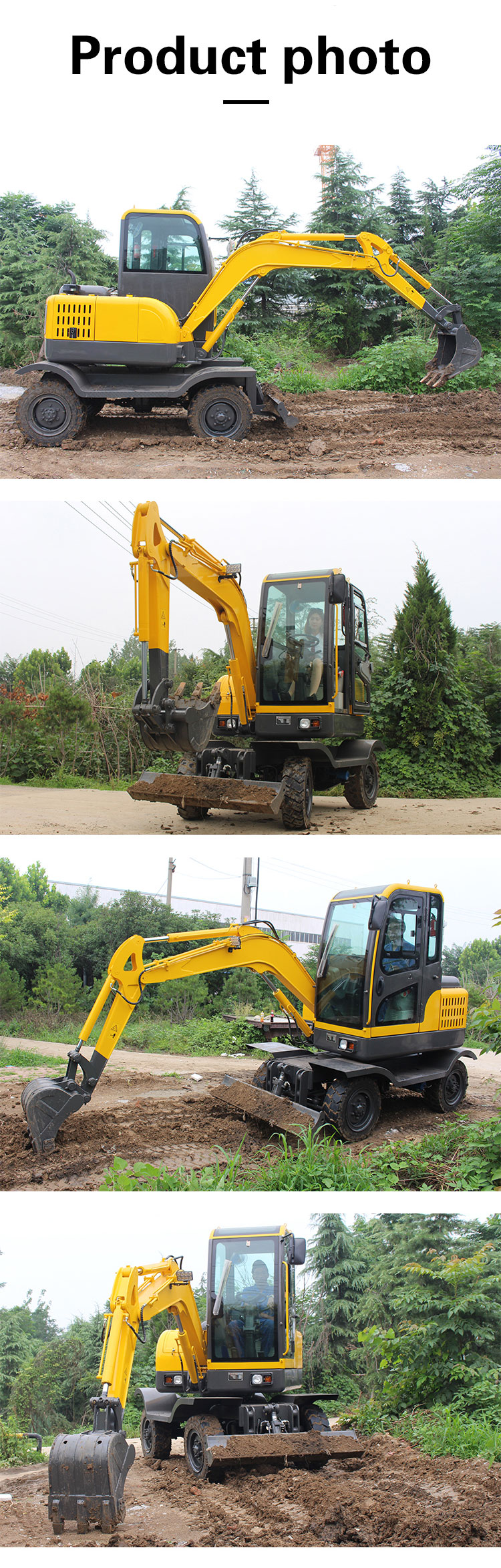 R355L smalll wheel excavator