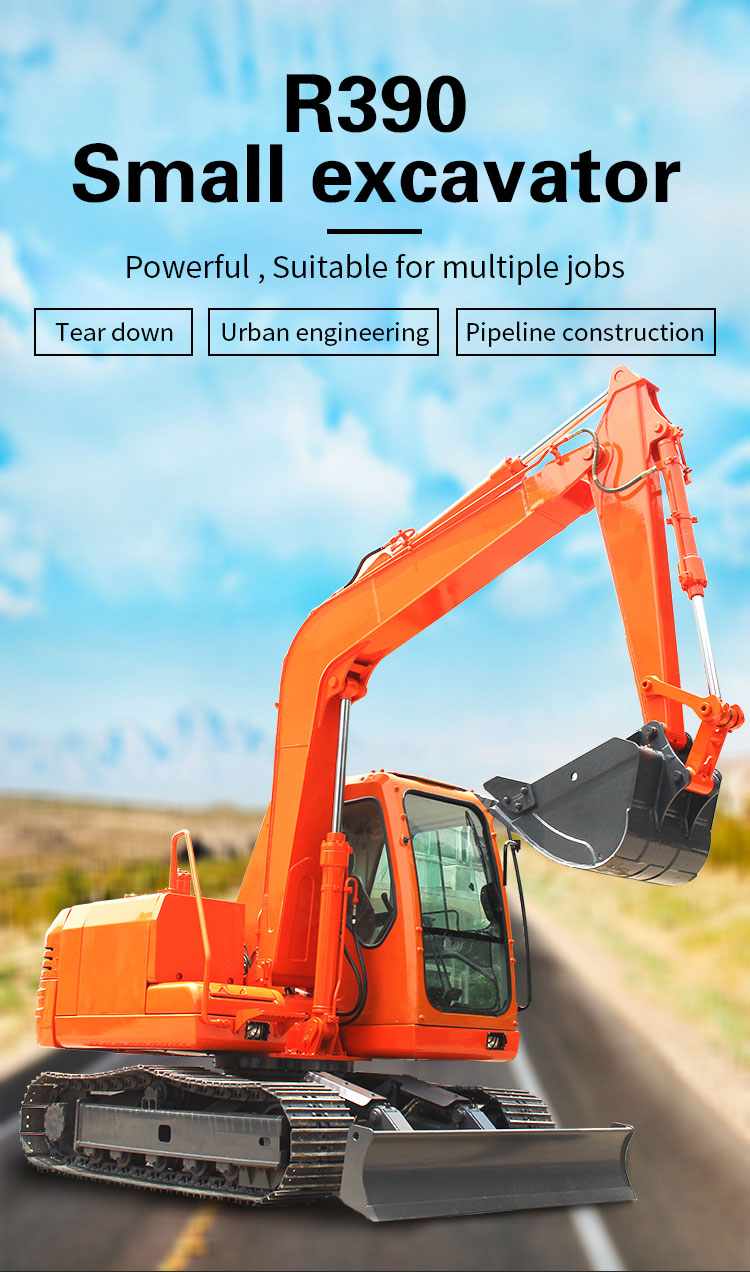 R390 small municipal Engineering excavator