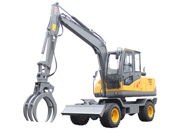 R390 wheeled multifunctional small excavator