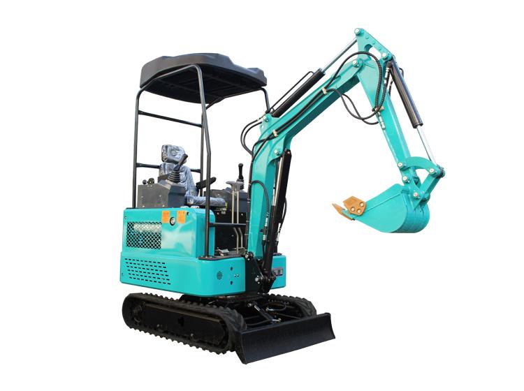 Beautiful appearance blue hydraulic mini excavator for sale