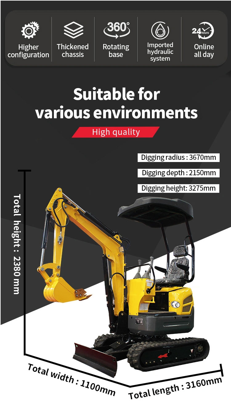 L328 Tailless Compact(Mini) Excavators For Hot Sale-Rippa